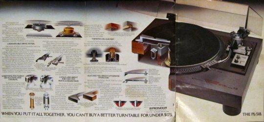 Pioneer PL-518 complete ad