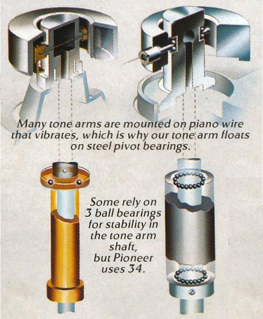 Pioneer PL-518 Tone Arm