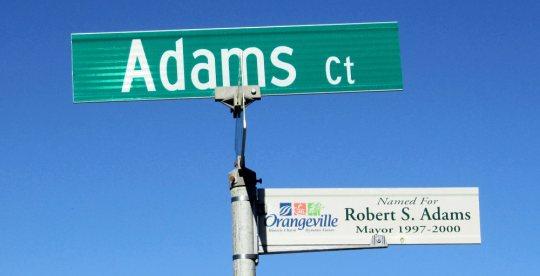 Sign - Adams Court