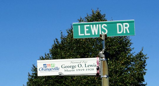Sign - Lewis Drive