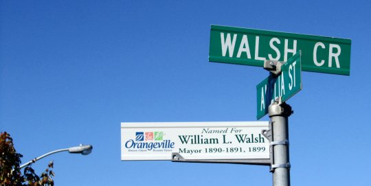 Sign - Walsh Crescent