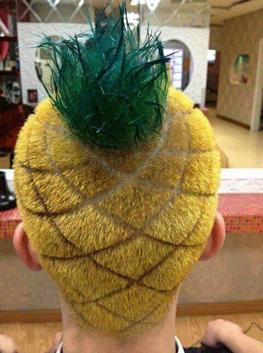 Pineapple Hairstyle