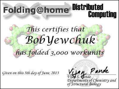 Certificate - 3000 WU