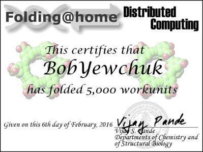 Certificate - 5000 WU