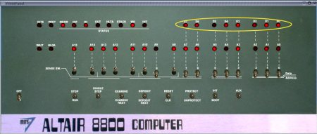 Altair 8800 Front Panel 1