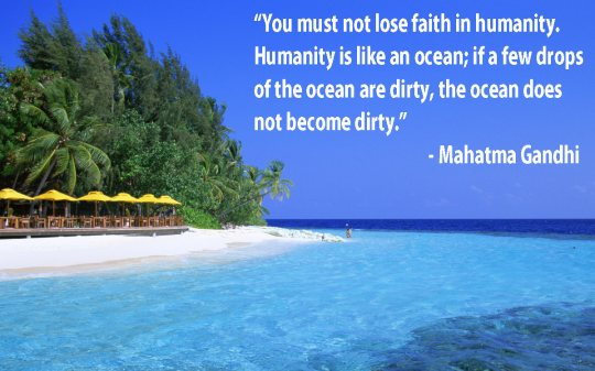 Gandhi Dirty Water Quote 2