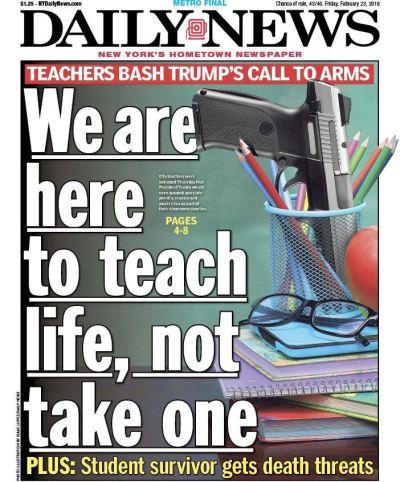 Arming Teachers Headline